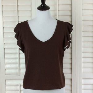 St. John Brown Top Size 10